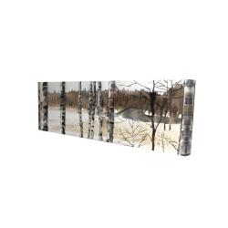 Canvas 16 x 48 - 3D - Winter swamp