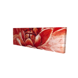 Canvas 16 x 48 - 3D - Red chrysanthemum