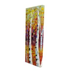 Canvas 16 x 48 - 3D - Colored birches