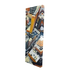 Canvas 16 x 48 - 3D - High top view of buildings in new york
