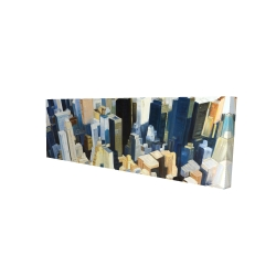 Canvas 16 x 48 - 3D - Manhattan view of the empire state building
