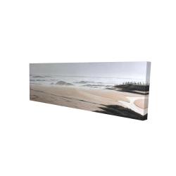 Toile 16 x 48 - 3D - Nuageux à la plage