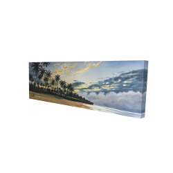 Canvas 20 x 60 - 3D - Tropical summer moments