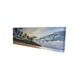 Canvas 16 x 48 - 3D - Tropical summer moments
