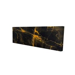 Canvas 16 x 48 - 3D - Black and gold marble texture