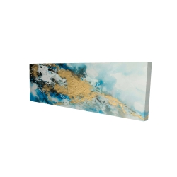Canvas 16 x 48 - 3D - Blue and gold marble