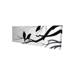 Canvas 16 x 48 - 3D - Silhouette of birds