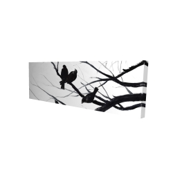 Canvas 16 x 48 - 3D - Birds and branches silhouette
