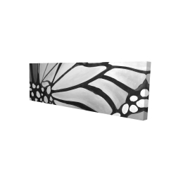 Canvas 16 x 48 - 3D - Monarch wings closeup