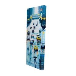 Canvas 16 x 48 - 3D - Rainy streets of new york