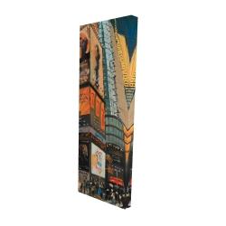 Canvas 16 x 48 - 3D - Illuminated new york city street