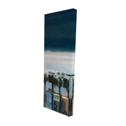 Canvas 16 x 48 - 3D - Bird's eye view of beach
