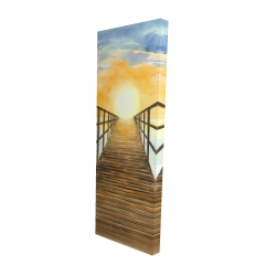 Canvas 16 x 48 - 3D - Sunset in the sea
