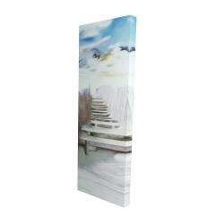 Canvas 16 x 48 - 3D - Break at the beach
