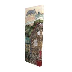 Canvas 16 x 48 - 3D - Château frontenac in the petit champlain