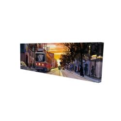 Canvas 16 x 48 - 3D - Sunset streetscape to toronto