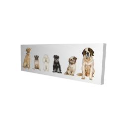 Canvas 16 x 48 - 3D - Man's best friend