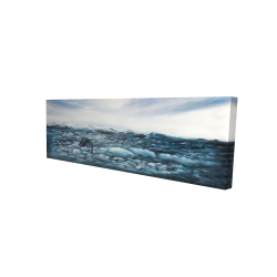 Canvas 20 x 60 - 3D - Glaciers in iceland