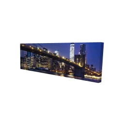 Canvas 16 x 48 - 3D - City at night