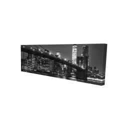 Canvas 16 x 48 - 3D - City under the night