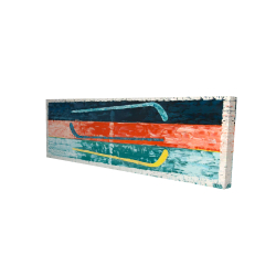 Canvas 16 x 48 - 3D - Abstract hockey sticks