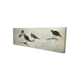 Canvas 20 x 60 - 3D - Sandpiper birds