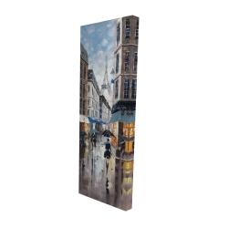 Canvas 16 x 48 - 3D - Paris street blue
