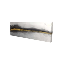 Canvas 16 x 48 - 3D - Gold stripe abstract