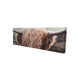 Canvas 16 x 48 - 3D - Desaturated highland cow