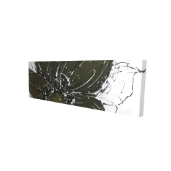 Canvas 16 x 48 - 3D - Abstract flower with paint splash