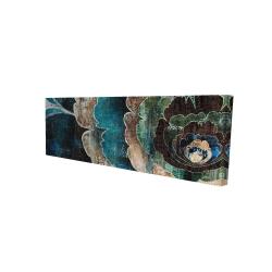 Canvas 16 x 48 - 3D - Blue flower montage