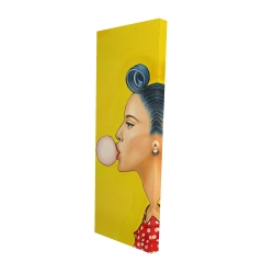 Canvas 16 x 48 - 3D - Retro woman with beautiful ponytail