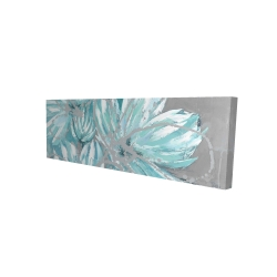 Canvas 16 x 48 - 3D - Three little abstract blue flowers