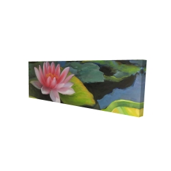 Canvas 16 x 48 - 3D - Water lilies and lotus flowers