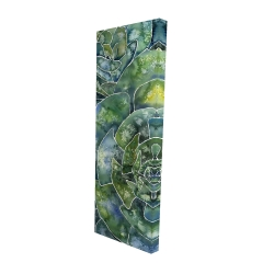Canvas 16 x 48 - 3D - Abstract succulents