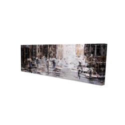Canvas 16 x 48 - 3D - Industrial abstract city