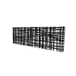 Canvas 16 x 48 - 3D - Abstract small stripes