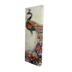 Canvas 20 x 60 - 3D - Majestic peacock