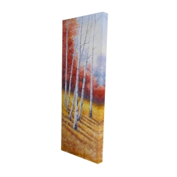 Canvas 16 x 48 - 3D - Fall landscape with birches