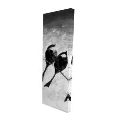 Canvas 16 x 48 - 3D - Five birds perched