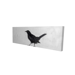 Canvas 16 x 48 - 3D - Lonely crow