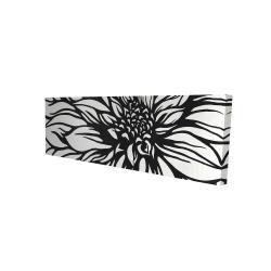 Canvas 16 x 48 - 3D - Dahlia flower outline style