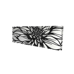 Canvas 16 x 48 - 3D - Dahlia flower outline style