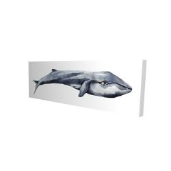 Canvas 16 x 48 - 3D - Watercolor whale