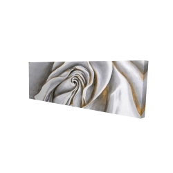 Canvas 16 x 48 - 3D - White rose delicate