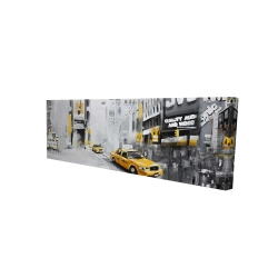 Canvas 16 x 48 - 3D - New york city with taxis