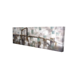 Canvas 16 x 48 - 3D - Abstract paint spotted bridge