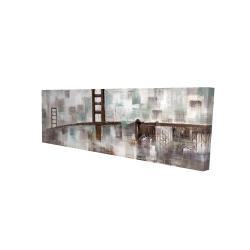Canvas 16 x 48 - 3D - Abstract golden gate