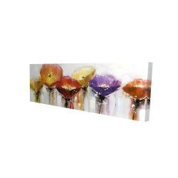 Canvas 16 x 48 - 3D - Multiple colorful abstract flowers