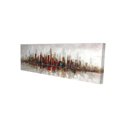 Canvas 16 x 48 - 3D - Abstract colorful skyscrapers